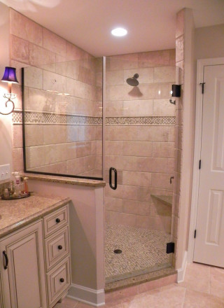 bathroom remodel with shower - geist - hamilton county - fishers, IN