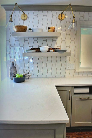 white kitchen tiles - Indianapolis, Indiana - Bantz