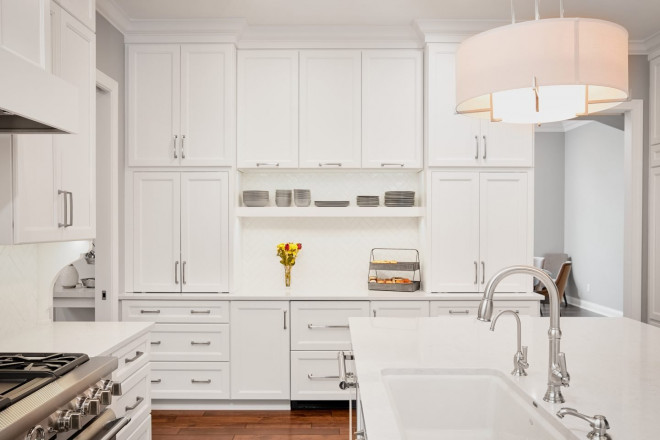 white kitchen cabinets - Carmel, IN - Geidd