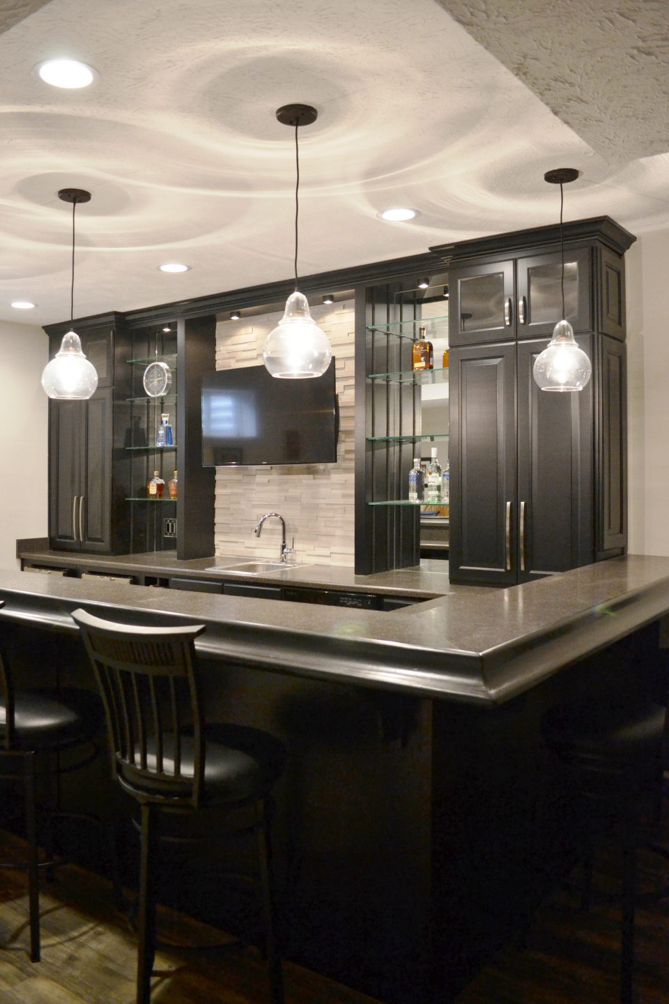 Murphy Kitchen And Basement Bar Remodel Zionsville Aco