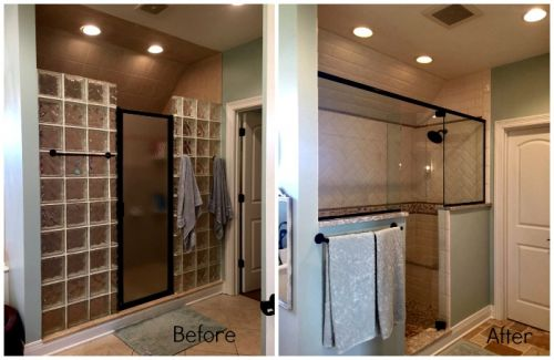 Juleen Bathroom Shower Before and After
