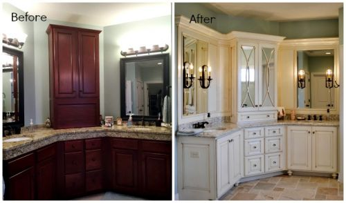 Juleen Bathroom Vanity Before and After