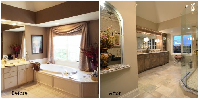 Hanson Master Bathroom Before and After