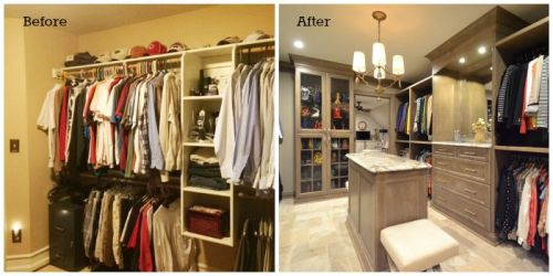 Hanson Closet Before and After
