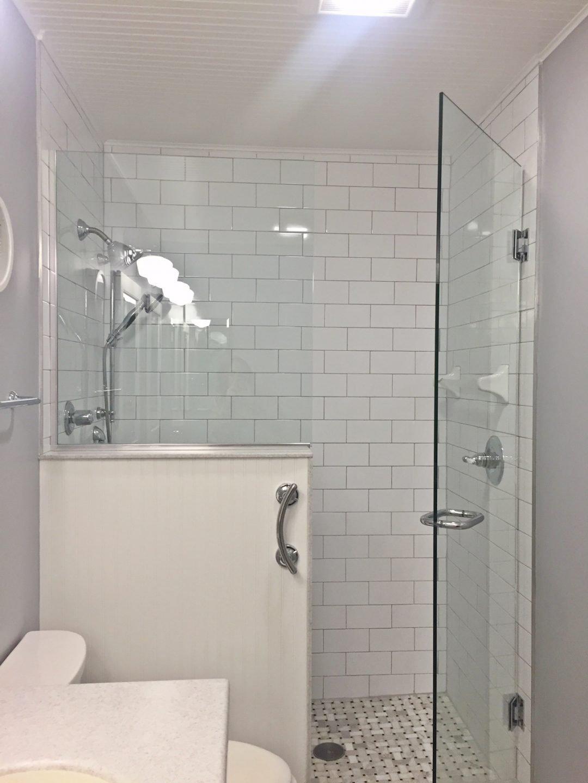 Brown Bathroom Remodel Indianapolis