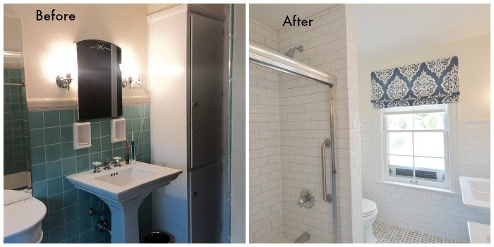 1930s bathroom renovation tile