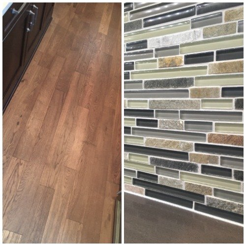 Backsplash and Wood Floor