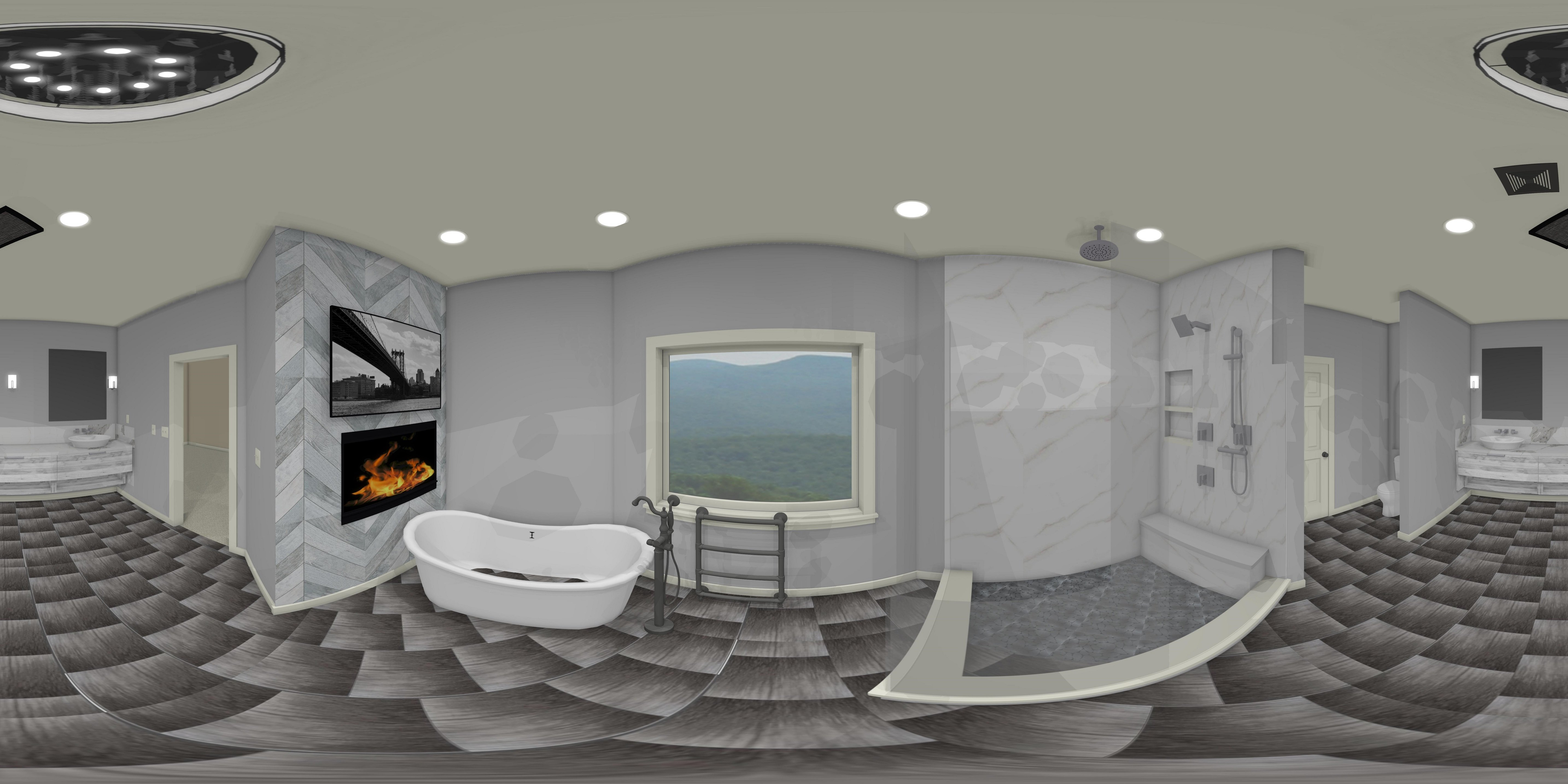 Virtual reality bathroom design