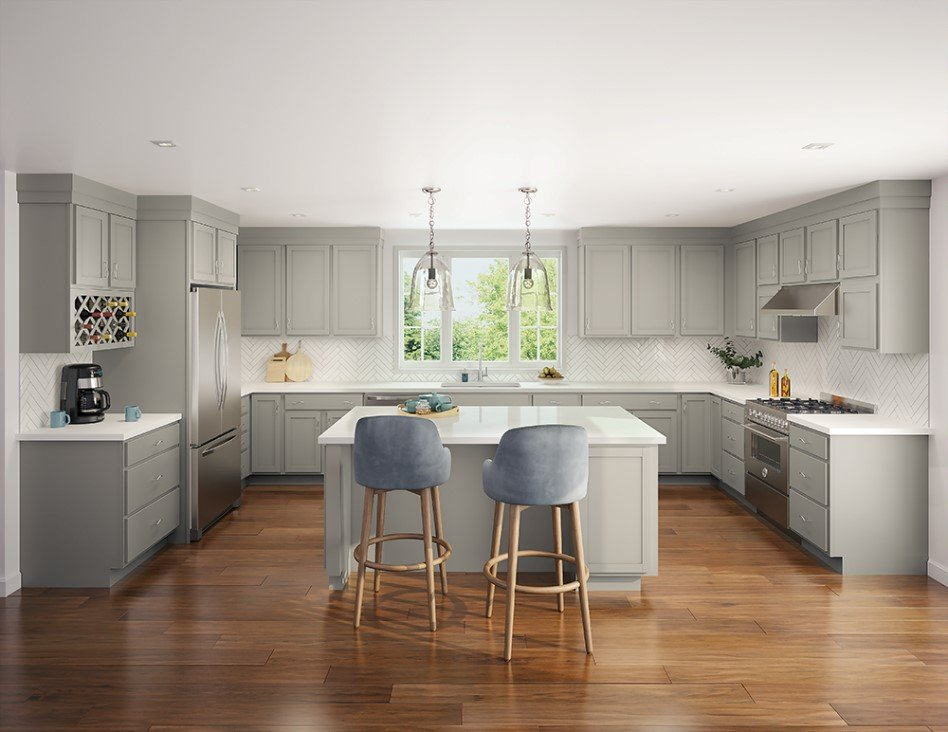 Great Gray Kitchen Ideas When Redesigning Your Home Aco