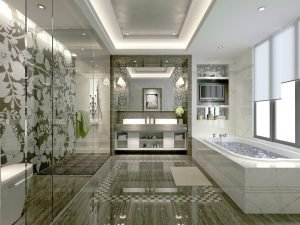 master bathroom, shower, shower wet room