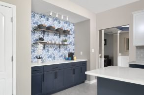 Charming Blue Kitchen Remodel (Before & After Photos) – Pendleton, Indiana